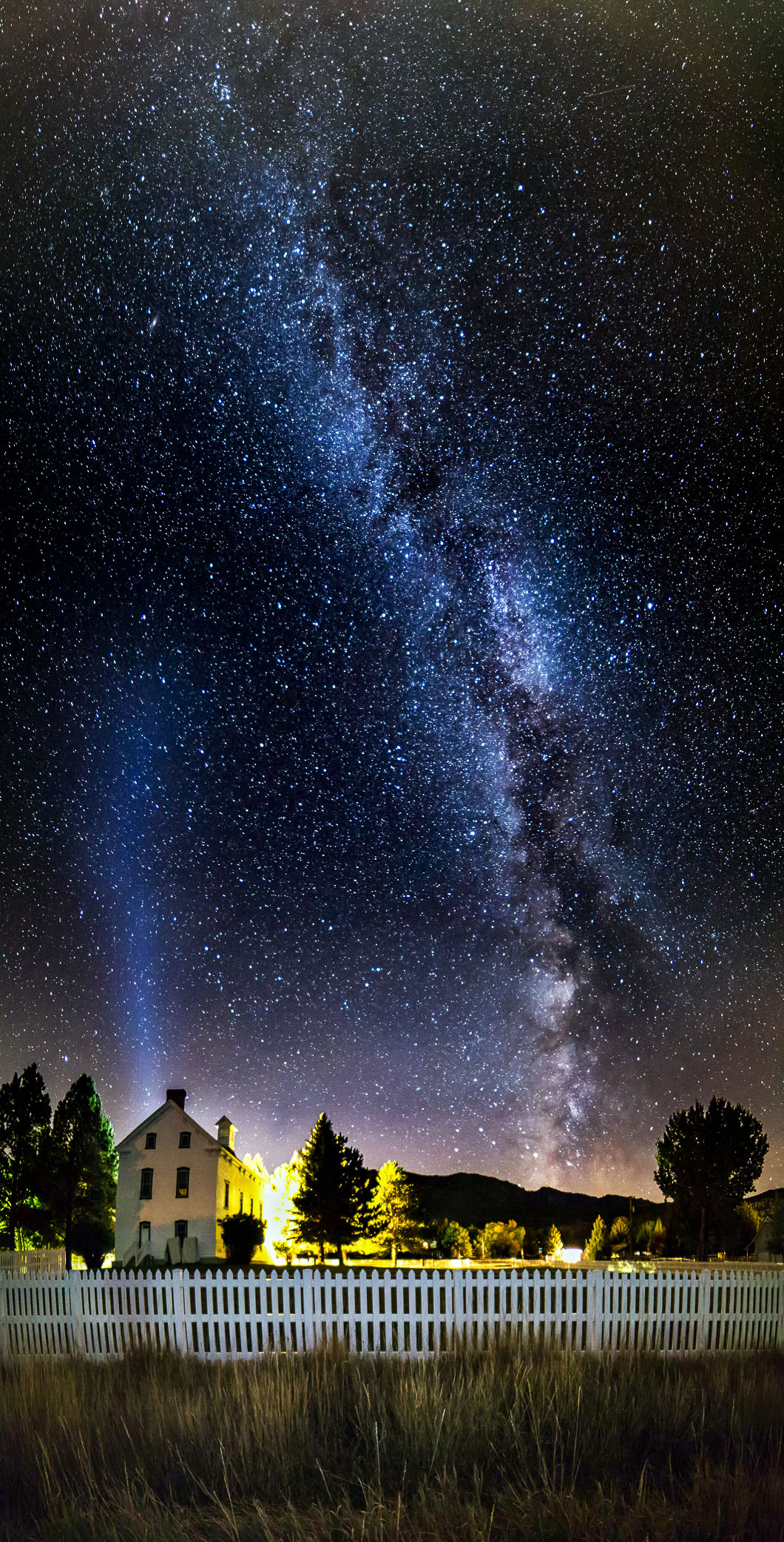 Milky Way over Pine Valley, Utah Chapel