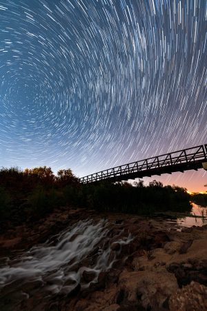 Fort Pearce Bridge under the Milky Way