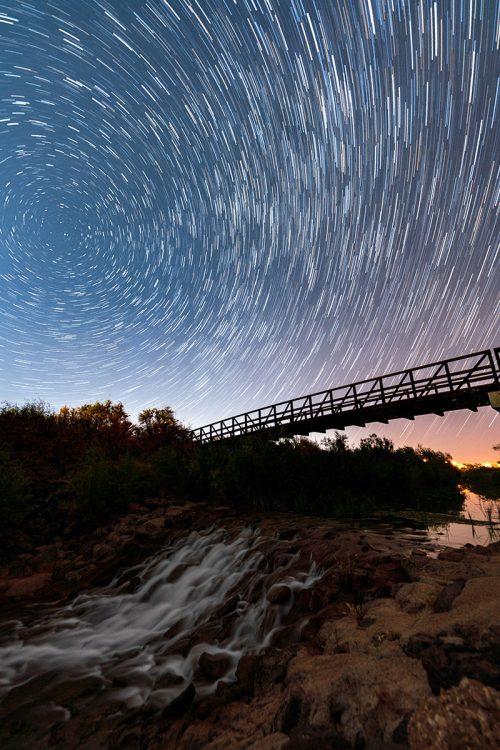 Fort Pearce Bridge under the Milky Way